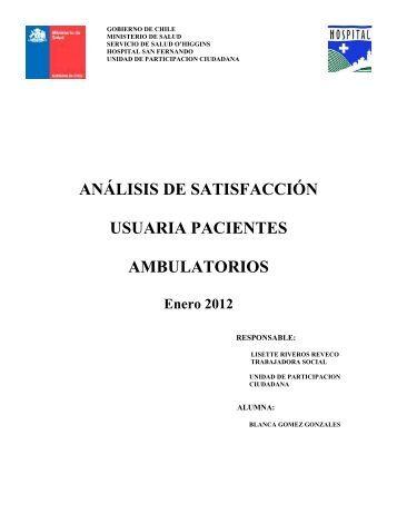 ENCUESTA DE SATISFACCIÓN A USUARIOS AMBULATORIOS DEL