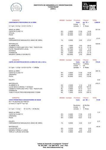 roturas y demoliciones.pdf - Instituto de Desarrollo e Investigación ...