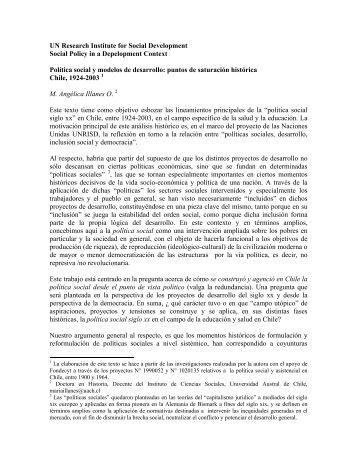 Política social y modelos de desarrollo - Estudios del trabajo