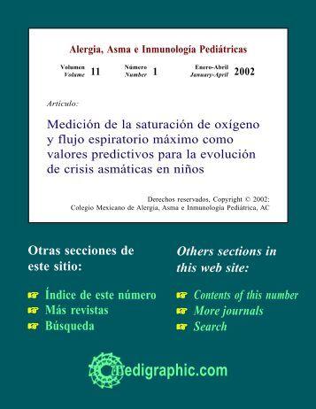 Medición de la saturación de oxígeno y flujo ... - edigraphic.com