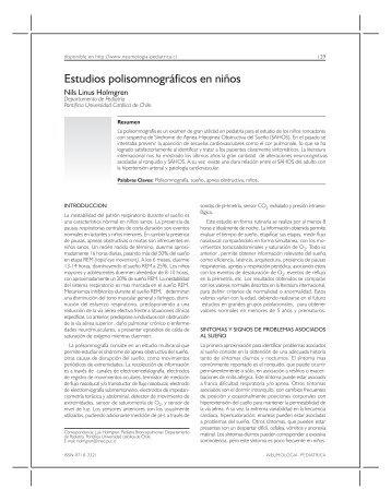 Estudios polisomnográficos en niños