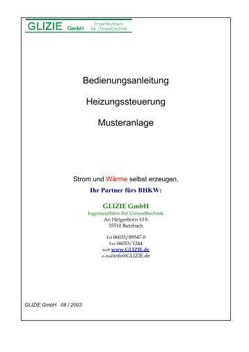 Bedienungsanleitung Heizungssteuerung ... - GLIZIE GmbH
