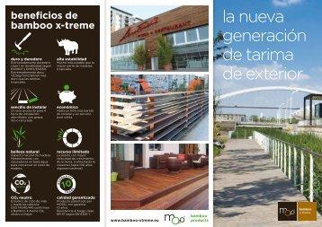 MOSO folleto Bamboo X-treme - MOSO Bambú