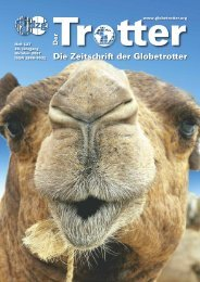 Die Zeitschrit der Globetrot er - Deutsche Zentrale für Globetrotter