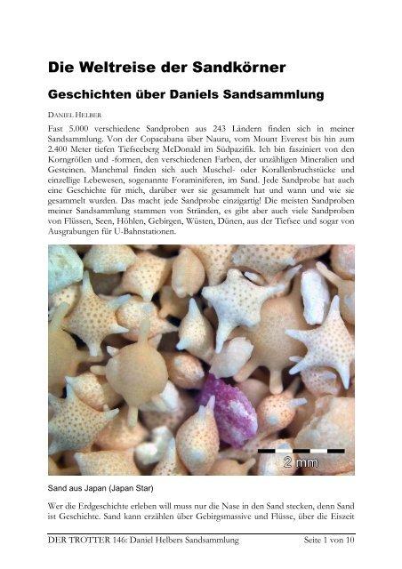 Sand aus aller Welt von Daniel Helber