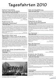 Tagesfahrten 2010 - Glockenland Reisen