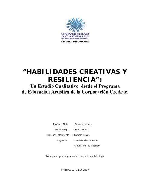 Habilidades Creativas Y Resiliencia Biblioteca Digital De