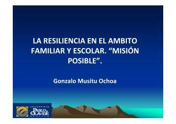 Resiliencia Familiar y Escolar. Gonzalo Musitu. Descargar