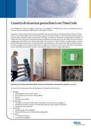 Cassetta di sicurezza portachiavi con TimeCode - Glutz