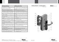 Mechatronikschloss Eypos (PDF) - Glutz