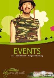 Event Kalender | Juli - Dezember 2011 - Berghotel Ilsenburg