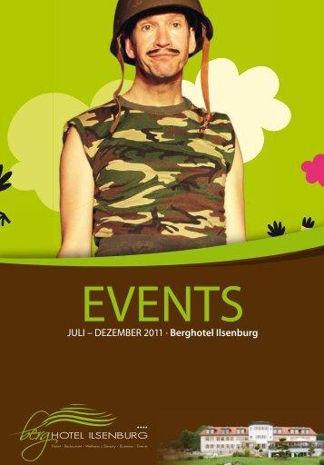 Event Kalender   Juli - Dezember 2011 - Berghotel Ilsenburg