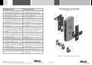 Schutzbeschlag DIN 18257 ES1-L eckig (PDF) - Glutz