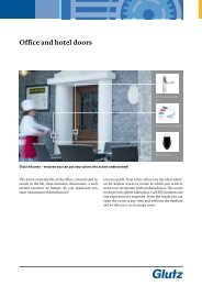 Office and hotel doors (PDF) - Glutz