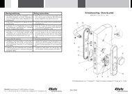 Schutzbeschlag - Security plate Montageanleitung Fixing ... - Glutz