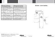 Drücker mit Gegenmutter und Schild (PDF) - Glutz