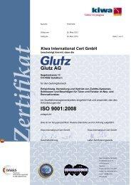 ISO 9001:2008 - Glutz