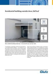 Residential building outside door full leaf (PDF) - Glutz