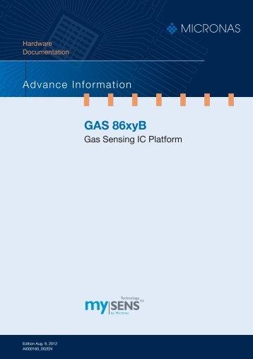GAS86xyB Gas Sensing IC Platform 1AI - Glyn