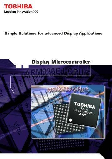 TMPA910xxx Display Microcontroller Brochure - Glyn
