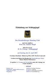Einladung zur Schleppjagd - Gestüt am Pichersee GmbH