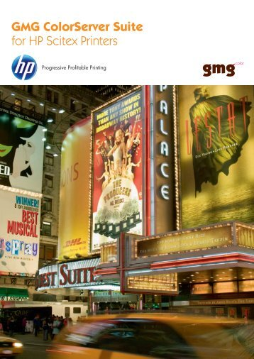 GMG ColorServer Suite for HP Scitex Printers