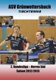 Saisonheft 2012-13 - ASV Grünwettersbach