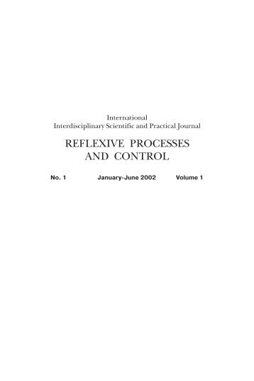 Journal No1, vol 1, 2002 - Reflexion.ru