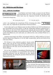 6.2. Reflexion und Brechung Z: Reflexion in 1D Z: Wellen Exp 38 ...