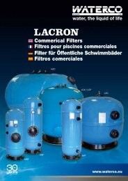 Commerical Filters Filtres pour piscines ... - Waterco Europe