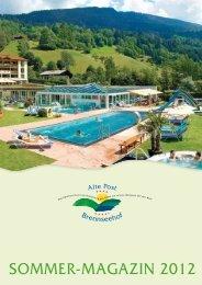 Sommer-magazin 2012 - Hotel Brennseehof