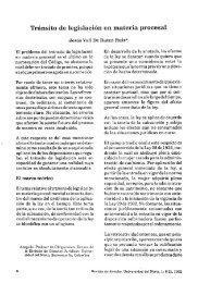 Tránsito de legislación en materia procesal - Universidad del Norte