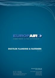 ductlok flanging & fasteners - Europair