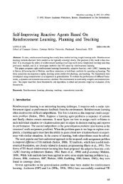 Self-improving reactive agents based on reinforcement ... - CiteSeerX