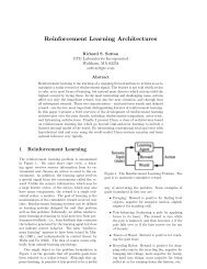 Reinforcement Learning Architectures - Department of Computing ...