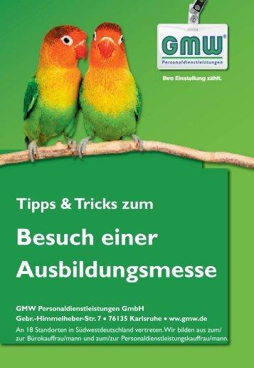 Tipps & Tricks für den Messebesuch - GMW ...