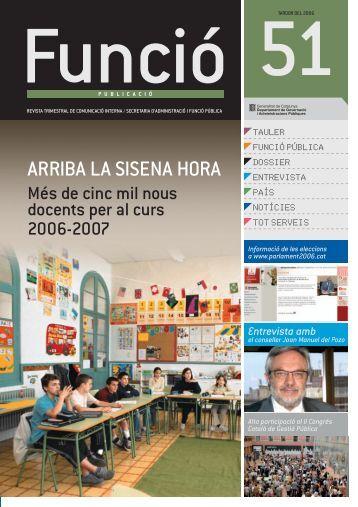 Revista Funció Publicació núm. 51 - Generalitat de Catalunya