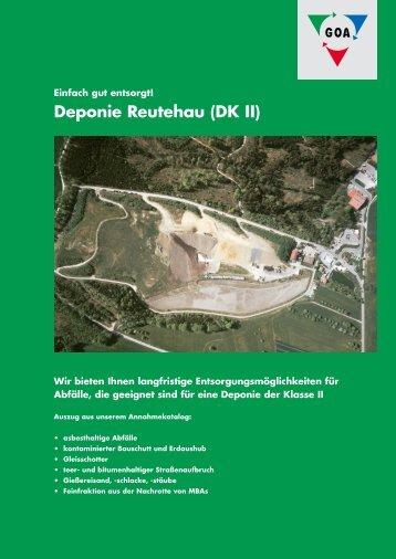 Deponie Reutehau (DK II) - Gesellschaft  im Ostalbkreis für ...