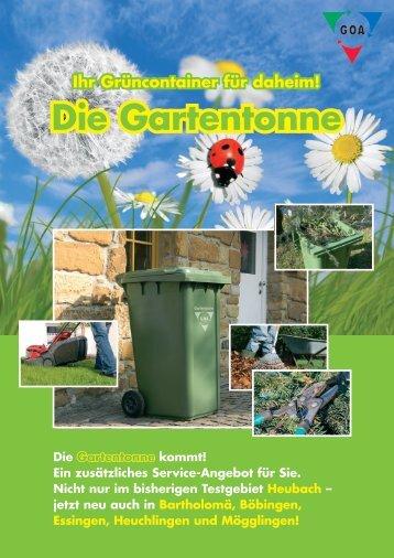 Die Gartentonne - Gesellschaft im Ostalbkreis für ...