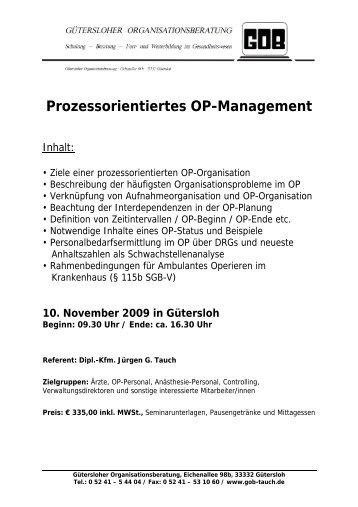 Flyer Prozessorientiertes OP-Management