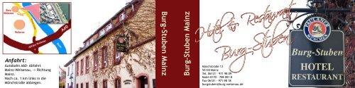 Hotel Burg-Stuben... - Burg · Weisenau