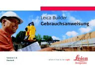 Leica Builder Gebrauchsanweisung