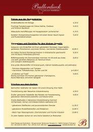 Feines aus der Suppenküche - Hotel-Restaurant Bullerdieck