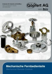 Prospekt Mechanische Fernbedienteile - FFA Schulze