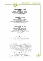 Speisekarte Winter 2007/2008 Aus der Kalten Küche