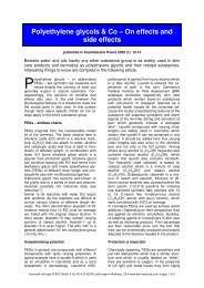 Polyethylene glycols & Co – On effects and side effects - Dermaviduals