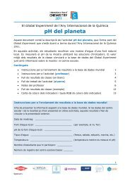 Activitat 1: pH del planeta - Blogs IEC - Institut d'Estudis Catalans