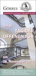 tag der offenen tür tag der offenen tür - Görres-Gymnasium
