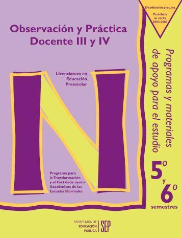 Observación y Práctica Docente IV - Benemérita Escuela Normal ...