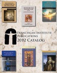 Click - Franciscan Institute Publications